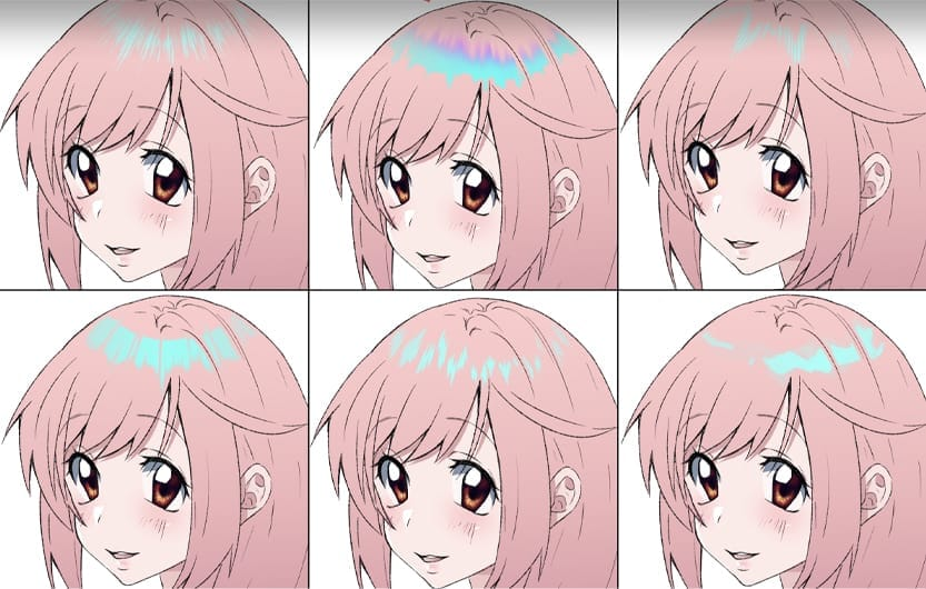 hair highlights free brushes CLIP STUDIO